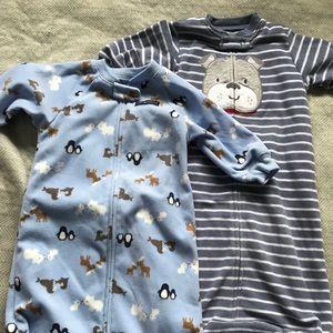 Fleece Long Sleeve Sleep Sacks | Size 0-9M